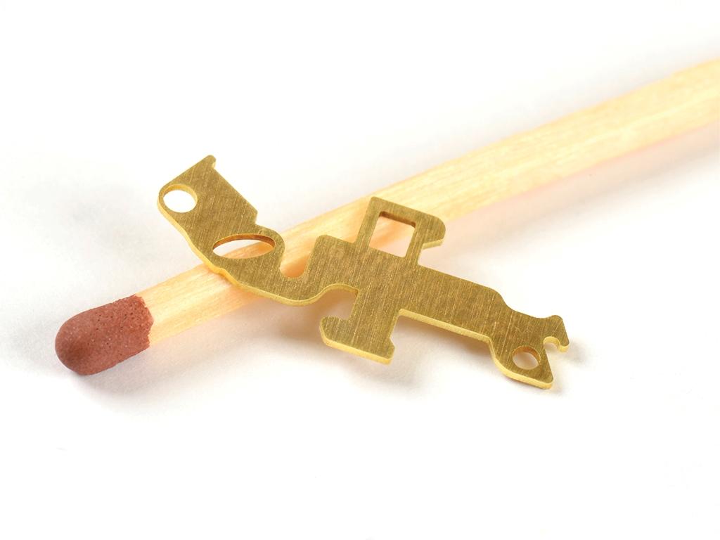 <h1>Laserskæring</h1><p>Messing emne.<br />Materialetykkelse 0.50 mm.</p>