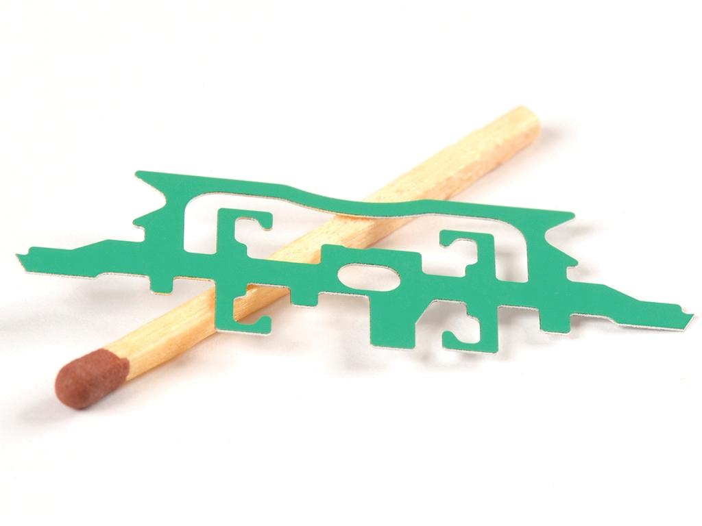 <h1>Laserskæring</h1><p>Aluminiums emne.<br />Belagt med Teflon folie<br> Materiale tykkelse 0.25 mm.</p>